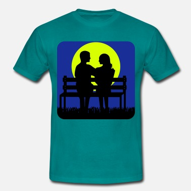 Bank Holiday full moon liebespaar Bank - Men's T-Shirt