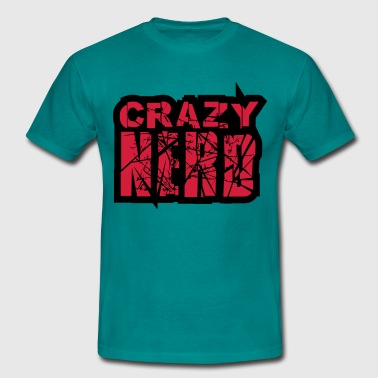Squint hairy monster cuddly crazy funny comic cart - Men's T-Shirt