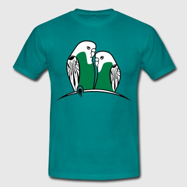 budgies birds - Men's T-Shirt