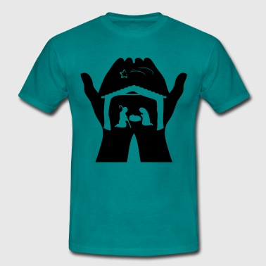 Christmas Crib hands - Men's T-Shirt