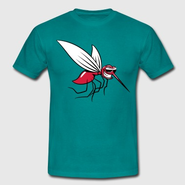 Mosquito wittily stinging comic sunglasses - Men's T-Shirt