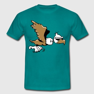 Vulture witty flying sunglasses - Men's T-Shirt