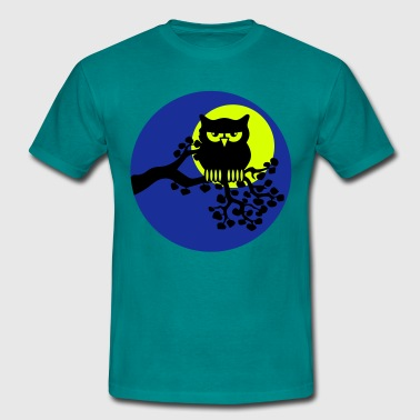 full moon owl ast - Men's T-Shirt