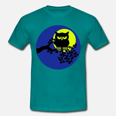 Ast full moon owl ast - Men's T-Shirt