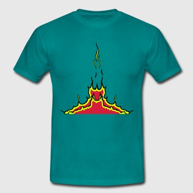 fire flames - Men's T-Shirt