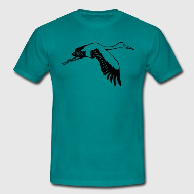 Stork fly wing bird - Men's T-Shirt
