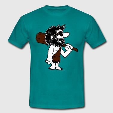 Caveman funny comic sunglasses - Men's T-Shirt