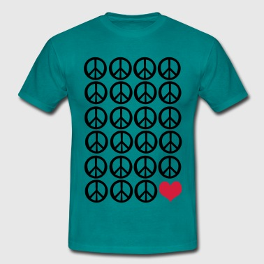 peace peace and love - Men's T-Shirt