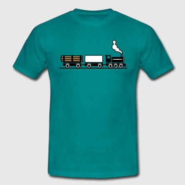 dampflok railroad toy freight train - Men's T-Shirt