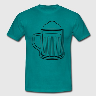Beer Beer Glass thirst - Men's T-Shirt