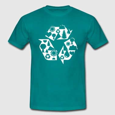 Recycling - Mannen T-shirt