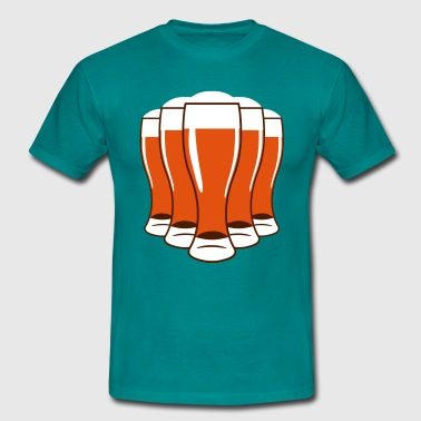 Beer drinking beer glass - Men's T-Shirt