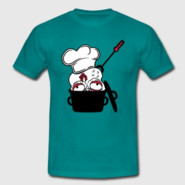zombie food cook cooking chef, master grill head p - Men's T-Shirt