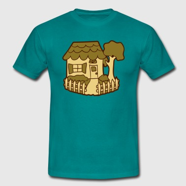Idyll Located in the idyllic fence garden house cottage  - Men's T-Shirt