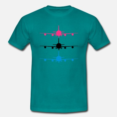 Chassis Landing plane silhouette stand chassis design patt - Men's T-Shirt
