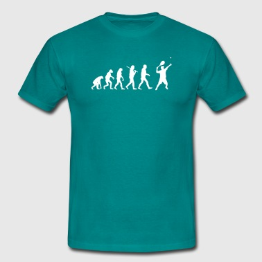 Evolution of tennis - Männer T-Shirt