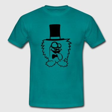 Sir gentlemen mr cylinder hat monocular eyeglasses - Men's T-Shirt