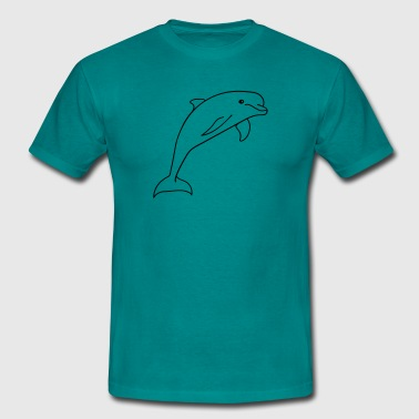 Dolphin jumping cute cute - Men's T-Shirt
