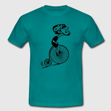 Montée humoristique de la bicyclette oldtimer - Men's T-Shirt