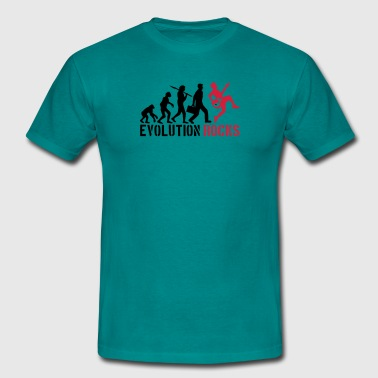 Evolution Rocks  - Männer T-Shirt