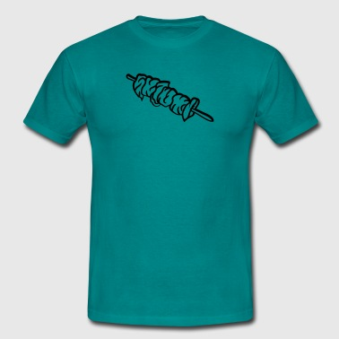 snoek spies vlees barbecue staaf staaf - Mannen T-shirt