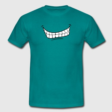 mouth teeth grin evil laugh - Men's T-Shirt