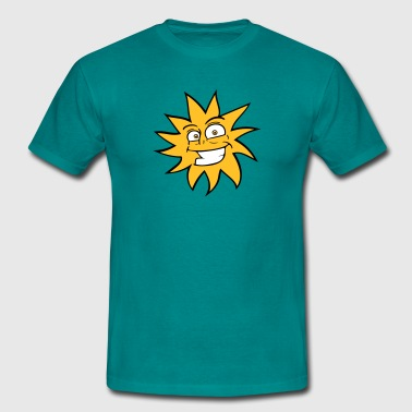 grinning funny comic happy sun face - Men's T-Shirt