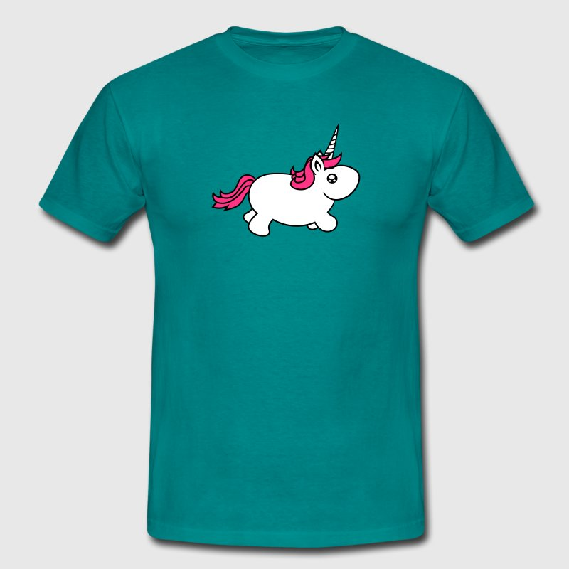 unicorn unicorn little big fat sweet cute baby pon - Men's T-Shirt