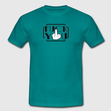 Glove stinkfinger middle finger show hand wanker a - Men's T-Shirt