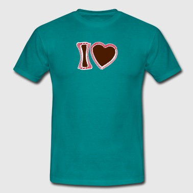 I mog di hearts edelweiss flowers gingerbread hear - Men's T-Shirt