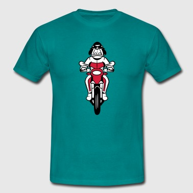 Motorfiets cartoon grappig - Mannen T-shirt