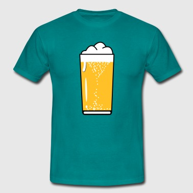 Drinking beer drinking beer glass - Men's T-Shirt
