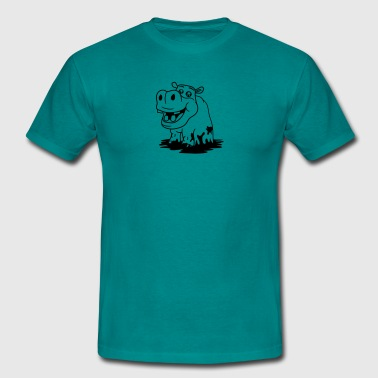mud burrow tümpel bathe slush bottomless swamp wat - Men's T-Shirt
