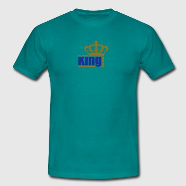 gold king the king text design logo cool chef - Men's T-Shirt