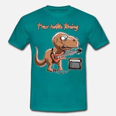Spreadmusic2015 spreadmusic2015 T-Rex Hates Tuning - guitar rock - Men's T-Shirt