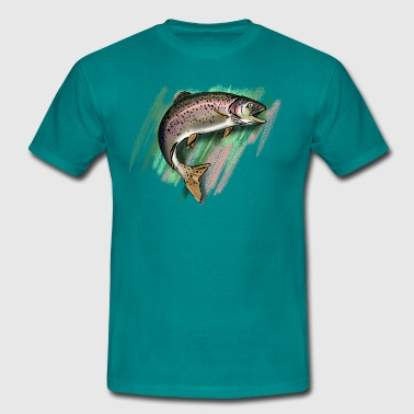 Trout - Mannen T-shirt
