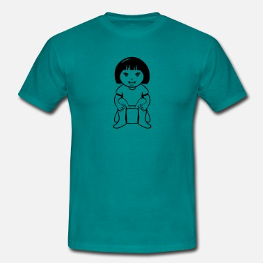 Piss Wc wc little girl sitting - Men's T-Shirt