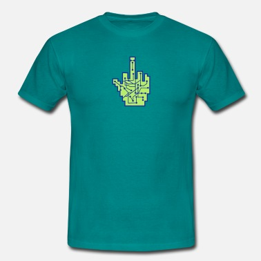 Eve Online wichser middle finger stinkefinger fuck you off ev - Men's T-Shirt