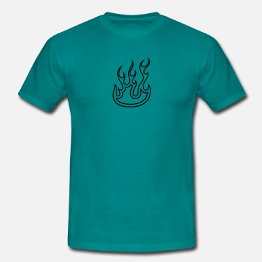 Flame Design Fire flames design - Men's T-Shirt