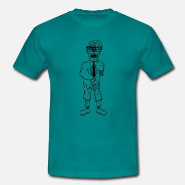 2a87b8ba3603 Anzug Geek anzug krawatte nerd geek streber freak hornbrille - Männer T- Shirt