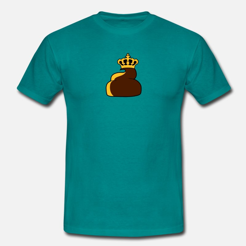 Shit T-Shirts - King crown prince ruler chef leader small shit poo - Men's T-Shirt diva blue