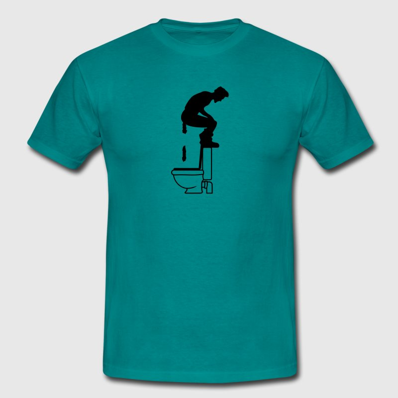 On top of it big toilet toilet shit toilet funny b - Men's T-Shirt