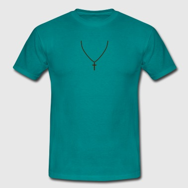 Collier Bijou chapelet bijoux collier croix croire direct christ - T-shirt Homme