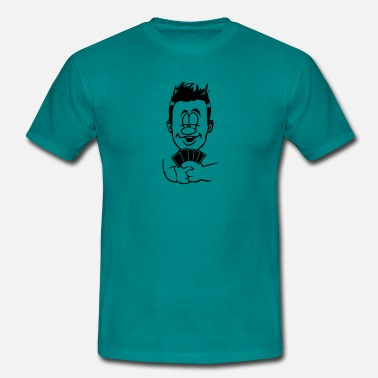 Play Poker Head hands playing poker - Men's T-Shirt