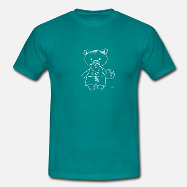 Piglets pig with the ball - Men's T-Shirt