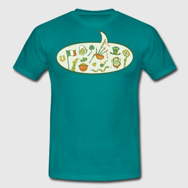 Saint Patrick's Day Speech Balloon - Men's T-Shirt