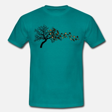 Wind Autumn leaves tree wind - Men's T-Shirt