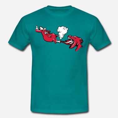 Joint Evil Dragon kiffen joint funny - Men's T-Shirt