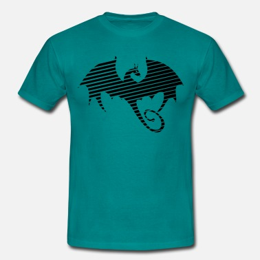 Dragon Silhouette Dragon pattern silhouette - Men's T-Shirt