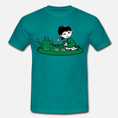 Plant Watering Garden watering flowers plants - Men's T-Shirt